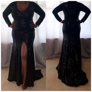 Black Sequin Formal Gown